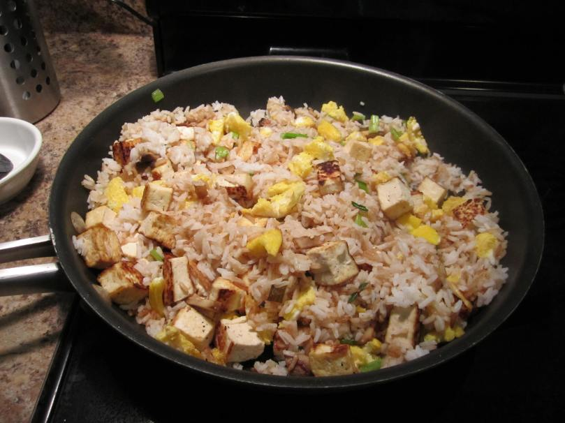 You can make this with shrimp, chicken, pork, or beef too!